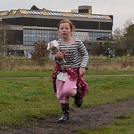 Erin on the run in
