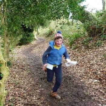 Adam Running Through The Woods