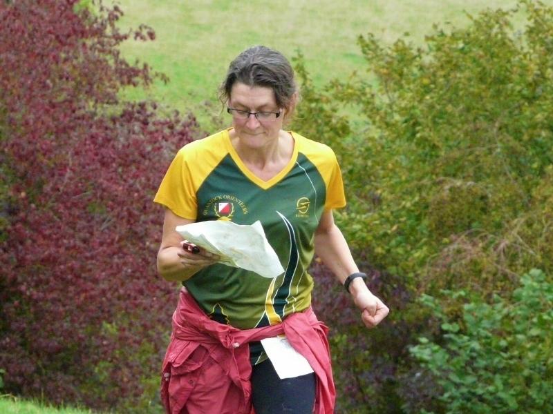 Emma running up Henlade Hill