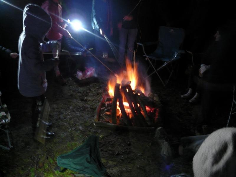 The bonfire awaits some marshmallows to burn, sorry toast