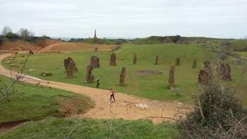 standing stones at Ham Hill