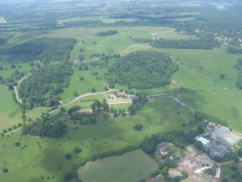 Ashton Court, aerial view