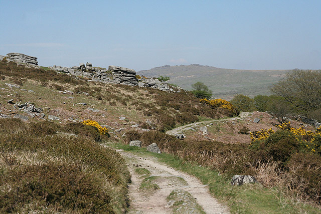 Heading north towards Heckwood Tor, to the SE of the competition area