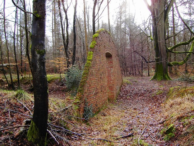 Ruined ammunition store in Savernake Forest