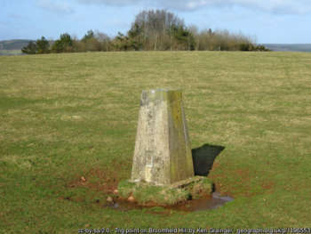 trig point on Broomfield Hill