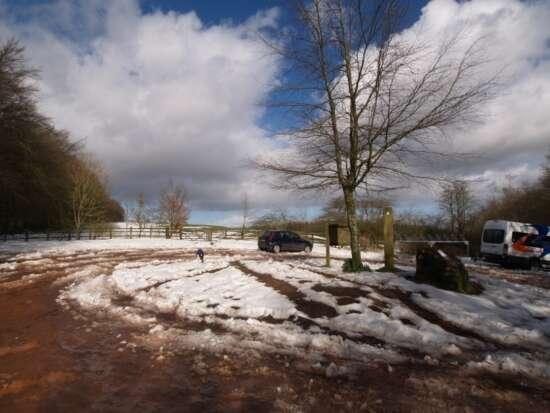 Car park snow