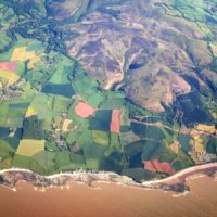 aerial view of NW Quantocks