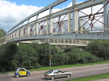 Footbridge Over The A358