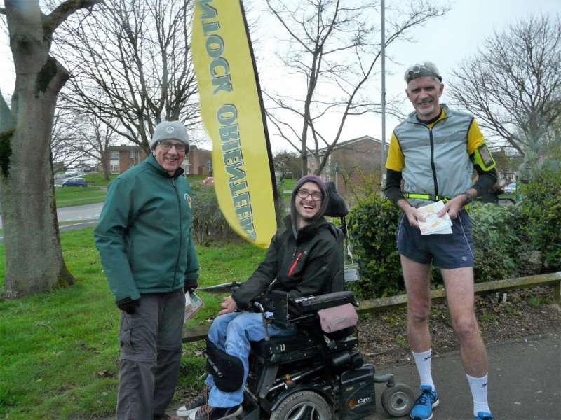 MapRun series champs 2018/19- Nath (motor-assisted) and Gavin (open), with Roger C (left)