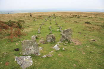 Stone row on Cosdon Hill