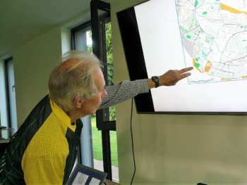 Mike C demonstrates, using a point on a map