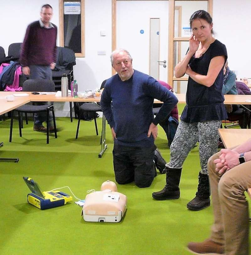 Sheila And John Work Out How To Use The Defibrillator