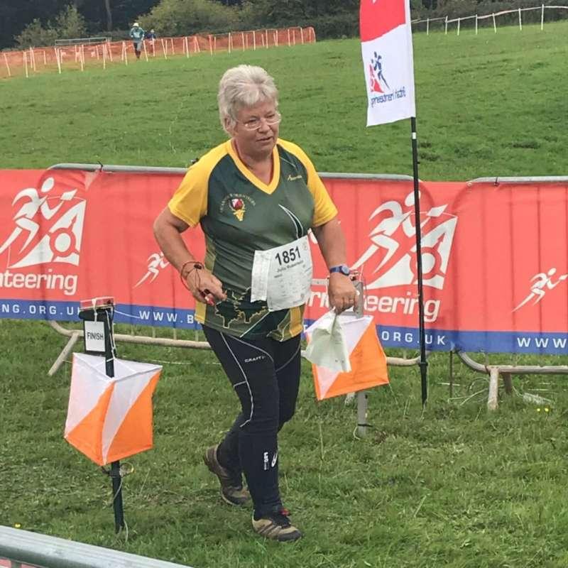 Julia R finishing at Stock Hill