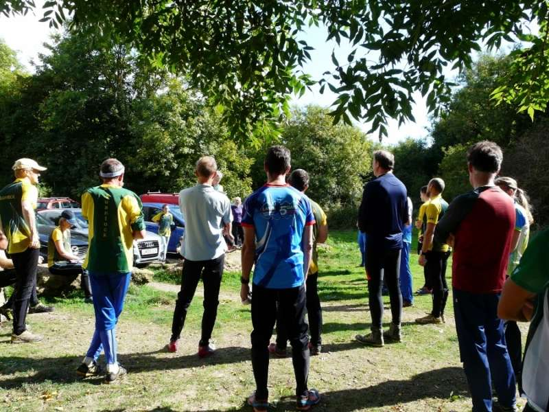 The pre-race briefing last year at Ham Hill