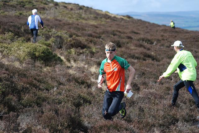 UK top 10 runner Ben Mitchell at our CompassSport heat, Will's Neck 2019