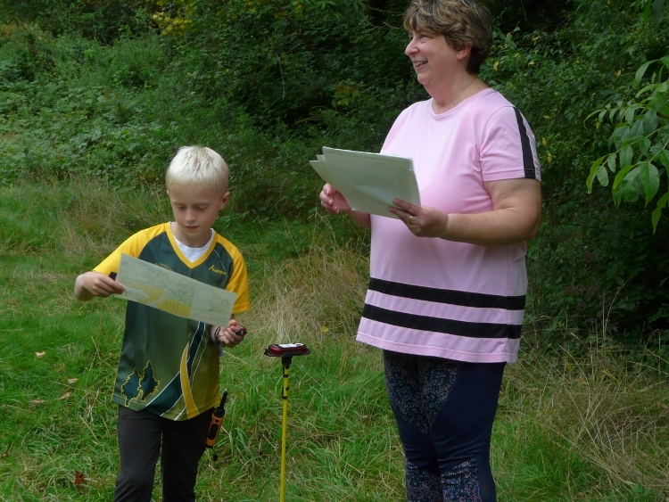 Karen giving out instructions at Ham Hill in August