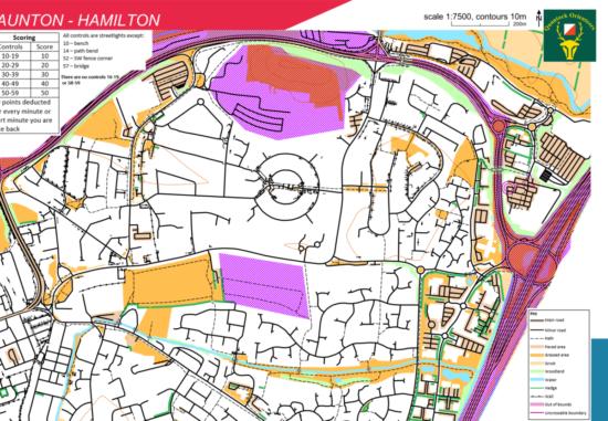 Hamilton Street Series Blank Map