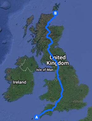Lejog Route