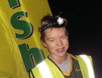 Andrew at the finish