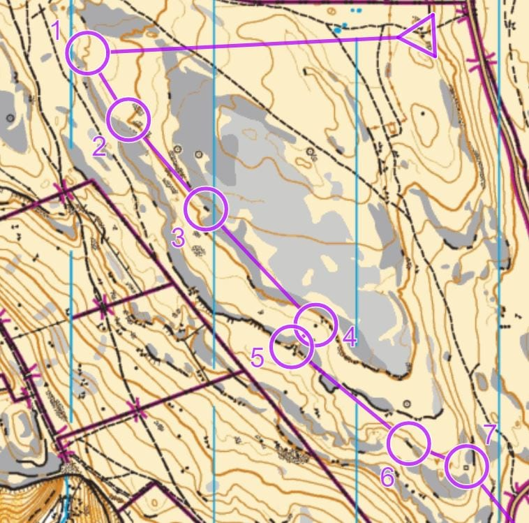 most of Julia's V Short Green course, Malham