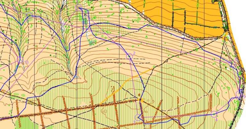 Long leg 7, East to West on Brown (Jeff's route shown)