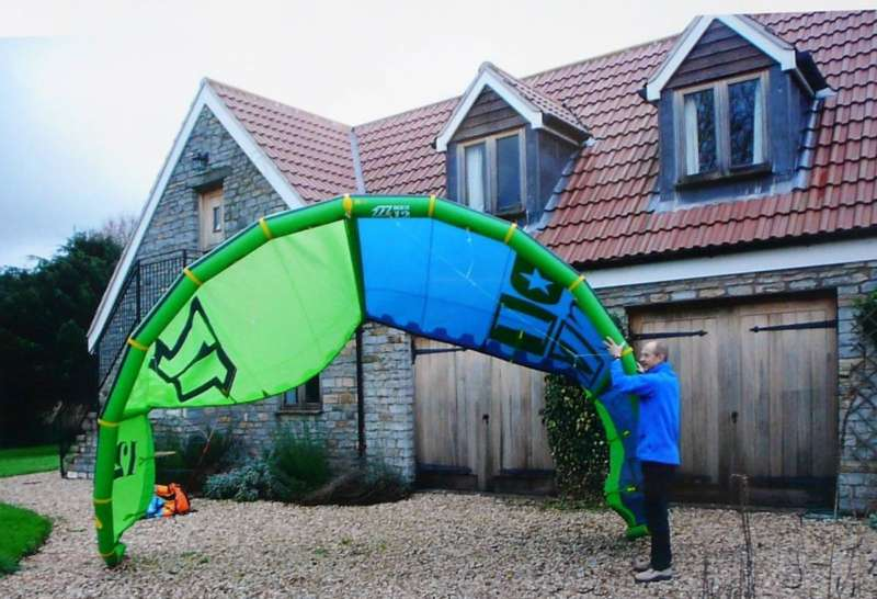 One of Ray's smaller kites