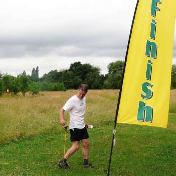 Chris Punches The Finish