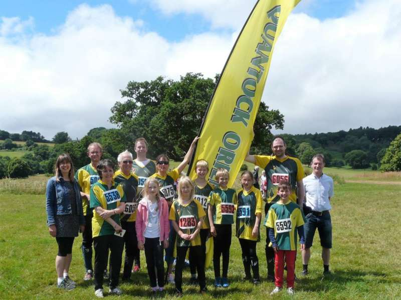 Summer relays - some of our 30 runners at Ashton Court