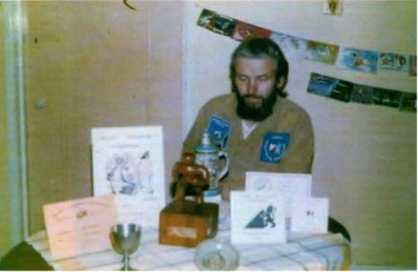 Founder member John Pilkington with his awards