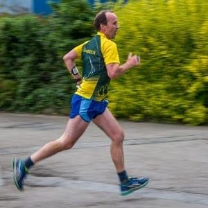 Richard at Camborne College race, 2017