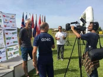 Gavin C being interviewed