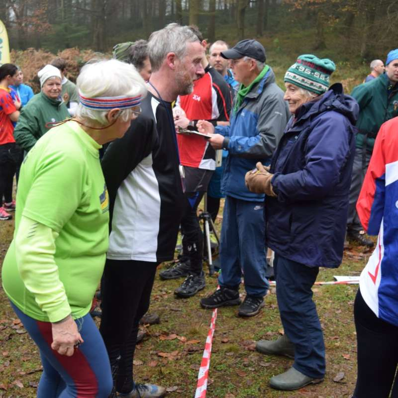 Jenny (right), puts competitors under starters orders at our 2016 Galoppen