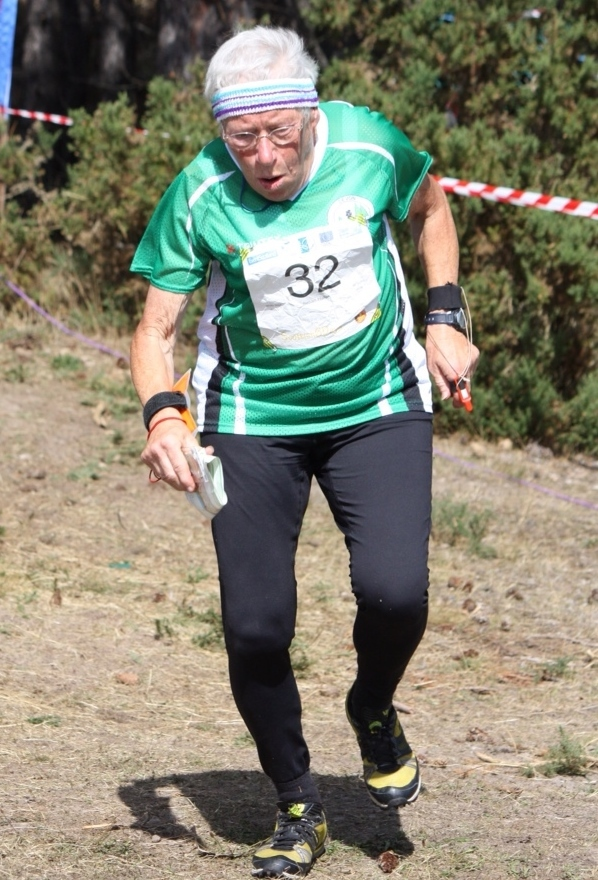 Sue Hateley at the Scottish 6 Days, 2013