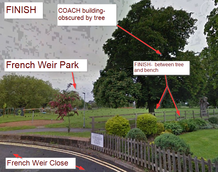 Finish control, French Weir Park