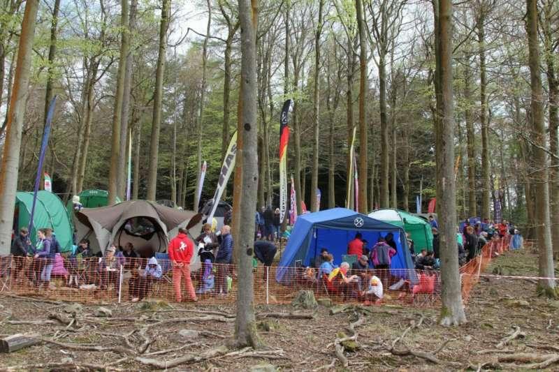 Tent village, Cannop Ponds