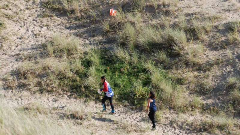Training event on the dunes at Holywell Bay