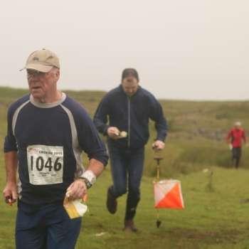 Jeff (middle) at Mynydd Llangynidr, Day 4