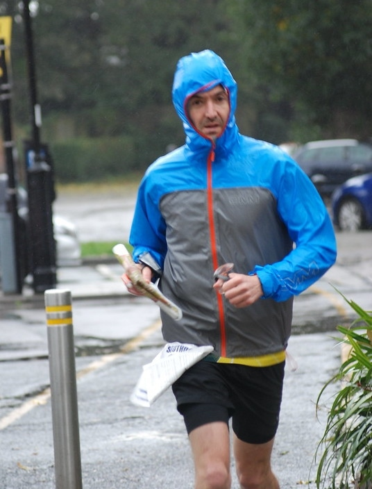 Pete at a soggy Chichester urban race