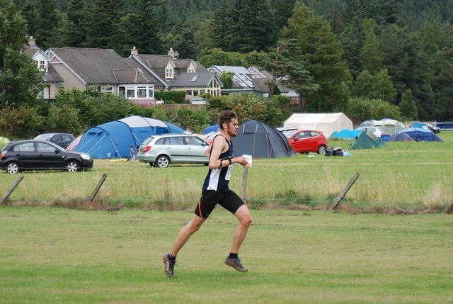 Sprint race at Ballater, home to the event campsite