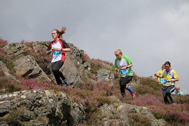 Contouring through the heather on the rocky open parts, day 6