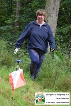 Karen finishing, the Wrekin