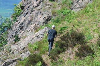 Impressive crags at the Wrekin