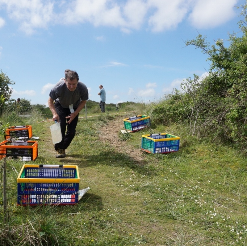 Handicap league leader, Chris Philip (at Braunton Burrows, 2018)