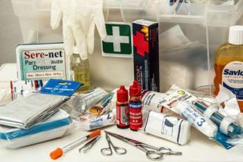 Slightly different contents to our first aid kit!