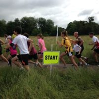 Parkrun start, at Longrun