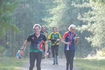 Sheila (centre) had a very good run