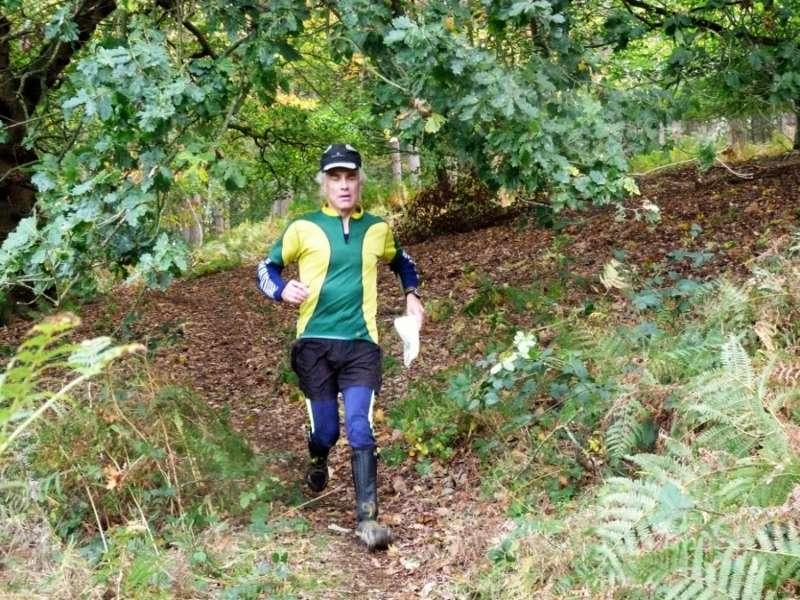Graham P descending to the finish