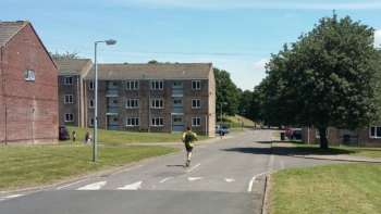 Martin enters the residential zone