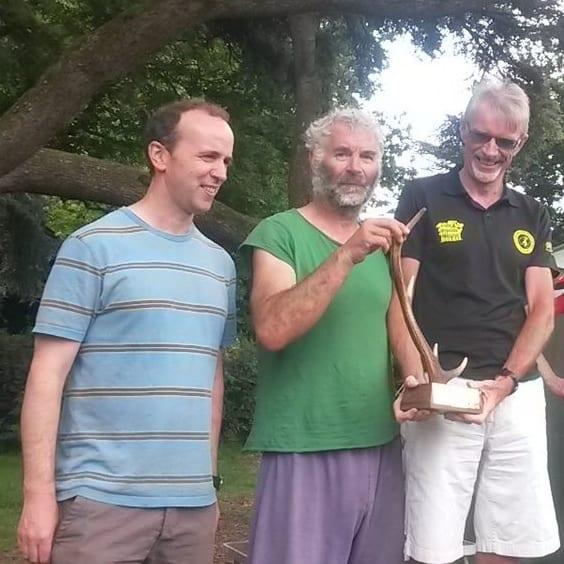 QO's Richard S, Simon B and Gavin C, winners of Hardy Relays