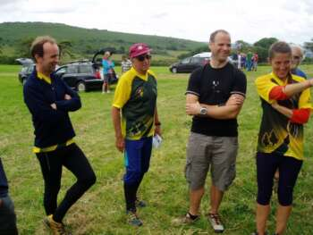 At Hound Tor for the Devon Relays, Aug 14. With Richard, Roger & Angela